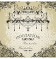 Vintage invitation on grungy paper for design vector image
