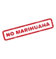 No Marihuana Rubber Stamp vector image