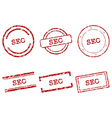 SEO stamps vector image vector image
