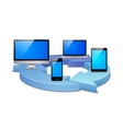 digital synchronization vector image