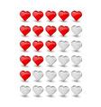 Rating hearts vector image