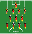 Computer game Belgium Football club player vector image