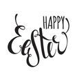 Happy Easter handwriting ink inscription vector image