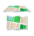 Map icon flat style vector image