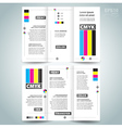 cmyk polygraphy - brocure design template vector image