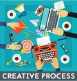 Creative Process Concept Banner vector image