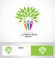 Faimily tree logo vector image