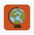 globe earth design vector image