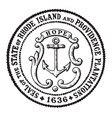 The seal of the state of rhode island and vector image