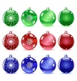 Multicolored Christmas balls Set 1 of 4 vector image vector image