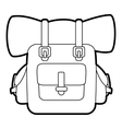 Backpack icon outline style vector image