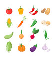 vegetables - modern icons set vector image