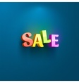 Sale placard for advertising vector image