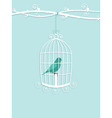 bird in cage vector image vector image