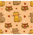 cute valentines seamless background vector image