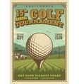 Vintage golf poster vector image vector image
