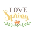 Spring art text composition vector image