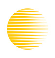 Sun logo Round circle triangle lines halftone vector image