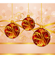 abstract background with christmas balls - vector image