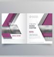 bi fold business brochure design template leaflet vector image