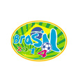 Brasil 2014 Soccer Football Ball vector image