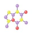 Molecular Structure in Flat Design vector image