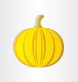 orange pumpkin abstract design halloween symbol vector image