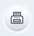 printer icon linear style vector image
