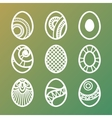 Set of Easter Eggs Icons vector image