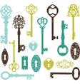 Vintage Keys Silhouette vector image