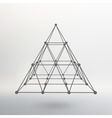 Wireframe mesh Polygonal pyramid Pyramid of the vector image