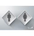 3D Restroom Sign Design vector image