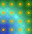 Abstract pattern of yellow and blue colors vector image