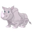 Cute Rhino vector image