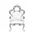 Classic royal chair with ornaments vector image