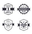 Baseball club team vintage logo badges vector image