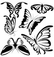 Abstract Butterflies vector image vector image