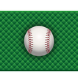 baseball checkered background vector image vector image