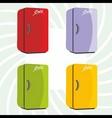 color refrigerator background vector image vector image
