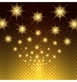 Glowing light stars background vector image vector image