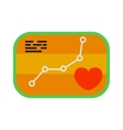 Heartbeat icon sport ecg concept load level badge vector image