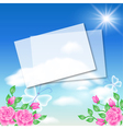 Floral background with note frame vector image vector image
