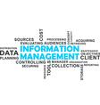 word cloud information management vector image