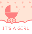 Baby shower its a girl vector image