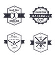 baseball club team vintage logo badges vector image