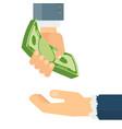donate money concept vector image