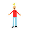 furious and frustrated man screaming with rage vector image