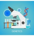 Genetics science education concept poster vector image