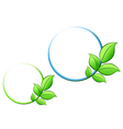 leaves for ecology vector image