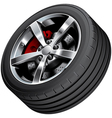 Sports car wheel vector image